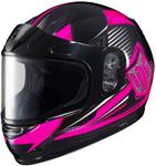 HJC Kids CL-Y Striker Full-Face Snow Snowmobile Helmet (Pink)