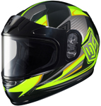 HJC Kids CL-Y Striker Full-Face Snow Snowmobile Helmet (Hi-Viz Yellow)