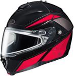 HJC IS-MAX II Elemental Modular/Flip-Up Snowmobile Helmet (Red)