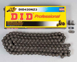DID 420 NZ3 Super Non-O-Ring Series Non-Sealed Chain (Natural) 100 Links