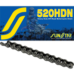 SUNSTAR 520 Heavy Duty Non-Sealed Off Road Non-Sealed Chain (Natural) 114 Links