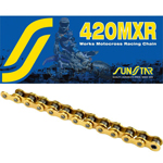 SUNSTAR 420 MXR Mini MX Series Non-Sealed Chain (Gold) 126 Links