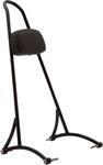 Burly Brand Sissy Bar w/ Backrest Pad (Black Powder-Coated) Tall