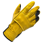 Biltwell Inc Borrego Leather Perforated CE-Certified Gloves (Gold/Black)