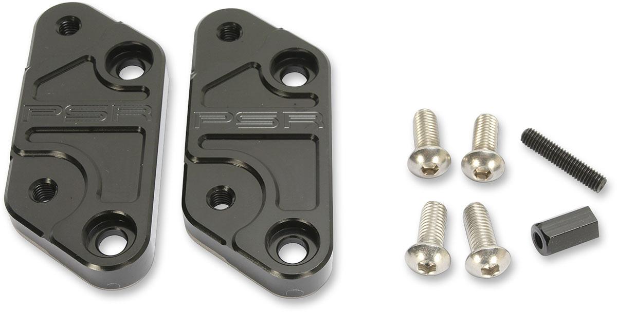 PSR Rearset Footpeg Risers Bracket (Black) 07-02200-22