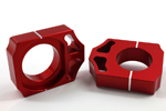 Works Connection Aluminum Axle Blocks 2009 - 2016 Honda CRF250R/CRF450R (Red) 17-016