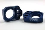 Works Connection Aluminum Axle Blocks Yamaha YZ250F/YZ450F (Blue) 17-032