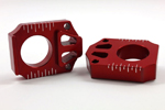 Works Connection Aluminum Axle Blocks Yamaha WR/YZF/YZ (Red) 17-035