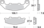 SBS LS Sintered Motorcycle Brake Pads (615LS-PU)