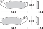 SBS LS Sintered Motorcycle Brake Pads (623LS-PU)