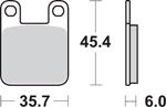 SBS H.HF Ceramic Organic Motorcycle Brake Pads (559H.HF)