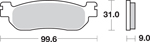 SBS HF Ceramic Motorcycle Brake Pads (728HF)