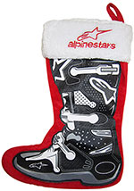 Smooth Industries ALPINESTARS Holiday Christmas Stocking (Red/Black)