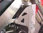 Works Connection Aluminum Radiator Braces 2002 - 2004 Honda CR250R (Silver) 18-066