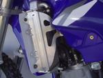 Works Connection Aluminum Radiator Braces 2002 - 2015 Yamaha YZ125 (Silver) 18-072
