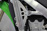 Works Connection Aluminum Radiator Braces 2012 - 2015 Kawasaki KX450F (Silver) 18-298