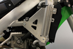 Works Connection Aluminum Radiator Braces 2016 Kawasaki KX450F (Silver) 18-299