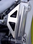 Works Connection Aluminum Radiator Braces Suzuki RM-Z450/RMX450Z (Silver) 18-494