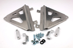 Works Connection Aluminum Radiator Braces 2013 - 2014 Honda CRF450R (Silver) 18-706
