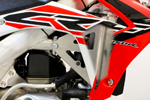 Works Connection Aluminum Radiator Braces 2015 Honda CRF450R (Silver) 18-707