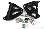 Works Connection Aluminum Radiator Braces 2015 Yamaha YZ250FX (Satin Black) 18-B179