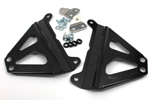 Works Connection Aluminum Radiator Braces 2014 - 2016 Yamaha YZ450F (Satin Black) 18-B267