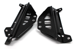 Works Connection Aluminum Radiator Braces 2012 - 2015 Kawasaki KX450F (Satin Black) 18-B298