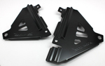 Works Connection Aluminum Radiator Braces 2016 Kawasaki KX450F (Satin Black) 18-B299
