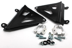 Works Connection Aluminum Radiator Braces 2014 - 2015 Honda CRF250R (Satin Black) 18-B776