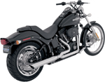 PYTHON 2-into-1 Exhaust System (Chrome) for 86-11 Harley-DavidsonFXS/FXST/FLST models