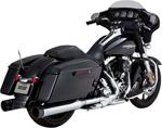 Vance & Hines - 16551 - Oversized 450 Titan Slip-On Exhaust Mufflers (Chrome w/ Black End Caps)