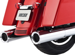 Vance & Hines - 16463 - Hi-Output Slip-On Exhaust Mufflers for 2017 Touring Models (Chrome)