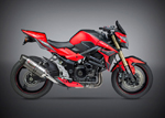 YOSHIMURA ALPHA Signature Street Slip-On Stainless Steel Exhaust System (Stainless Muffler w/ Carbon End Cap) 2015 Suzuki GSX-S750/Z (GSR750)