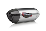 Yoshimura Alpha Street Series Slip-On Exhaust System (SS-SS-CF Works Finish)