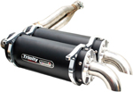 Trinity Racing STAGE 5 Dual Slip-On Exhaust Mufflers (Black) Can-Am Renegade 1000 (2012-2016) TR-4104S-BK