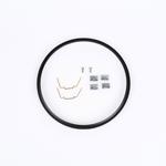 J.W. Speaker Kit 410 Motorcycle Headlight Mounting Kit/Adapter Ring Kit (Black) JW 0703381