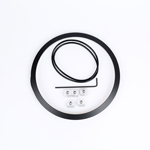 J.W. Speaker Kit 100 Motorcycle Headlight Mounting Kit/Adapter Ring Kit (Black) JW 0703391