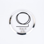 J.W. Speaker Kit 100 Motorcycle Headlight Mounting Kit/Adapter Ring Kit (Brushed Aluminum) JW 0703401