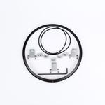 J.W. Speaker Kit 101 Motorcycle Headlight Mounting Kit/Adapter Ring Kit (Black) JW 0703411