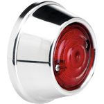 BILTWELL Model D LED Taillight (Polished) for Custom Motorcycle Applications