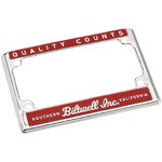 BILTWELL INC Die-Cast Zinc License Plate Frame - Quality Counts (Chrome/Red/Cream)