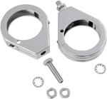 Drag Specialties Turn Signal Fork Clamps (Chrome) 49mm Grooved
