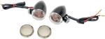 Drag Specialties Mini Deuce Bolt-Mount Marker Lights (Gloss Black/Amber Bulb) Clear & Smoke Lens