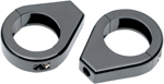Drag Specialties Turn Signal Fork Clamps (Gloss Black) 39mm Smooth