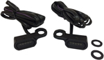 Drag Specialties LED Handlebar Marker Lights (Black w/ Smoke Lens) Sold as a pair