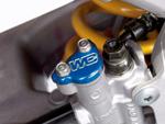 Works Connection Aluminum Rear Brake Reservoir Cap/Cover Honda CR/CRF (Blue) 21-500