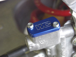 Works Connection Aluminum Rear Brake Reservoir Cap/Cover Kawasaki/Suzuki (Blue) 21-600