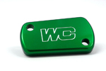 Works Connection Aluminum Rear Brake Reservoir Cap/Cover Kawasaki/Suzuki (Green) 21-618