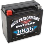Drag Specialties 12V High Performance Battery (Cross Ref YTX20H) 2113-0011