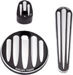 Arlen Ness - 91-127 - Dash Accessory Pack, Deep Cut - Black